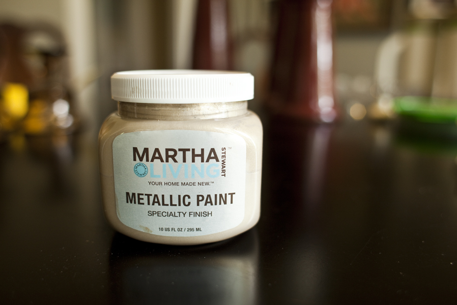 martha stewart metalic paint the daily haley
