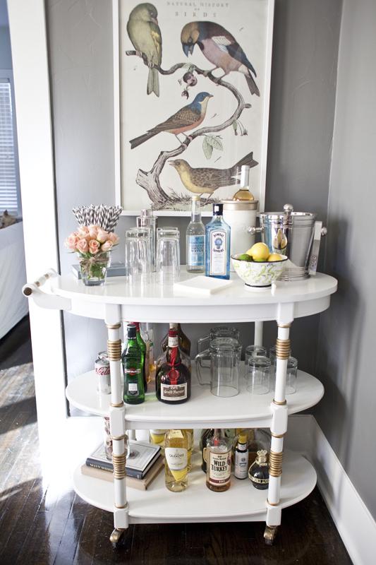 dining room bar cart | Matthew's Bar Cart | THE DAILY HALEY